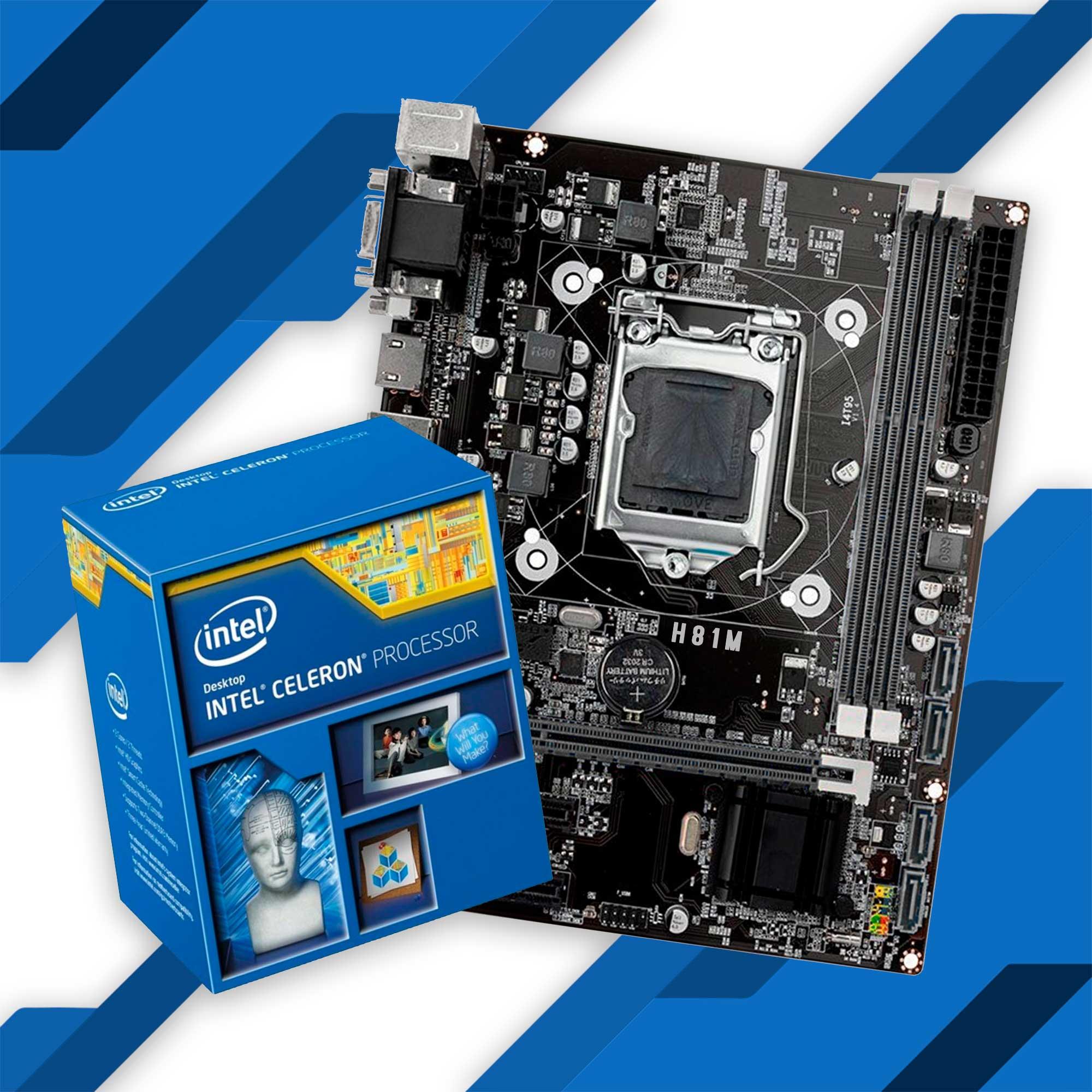 Kit Upgrade Intel Celeron 1820 + Placa mãe H81M HG4