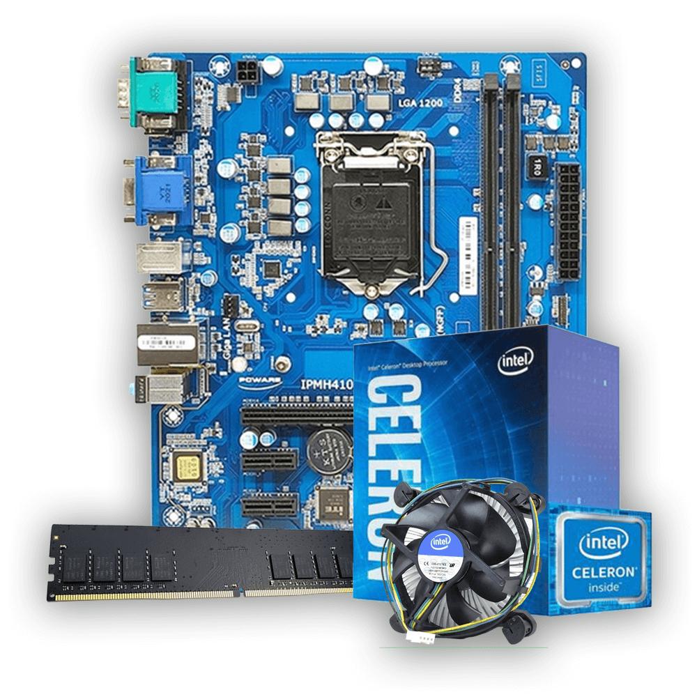 Kit Upgrade, Intel Celeron G5905, Placa mãe IPMH410E, Memória DDR4 4GB