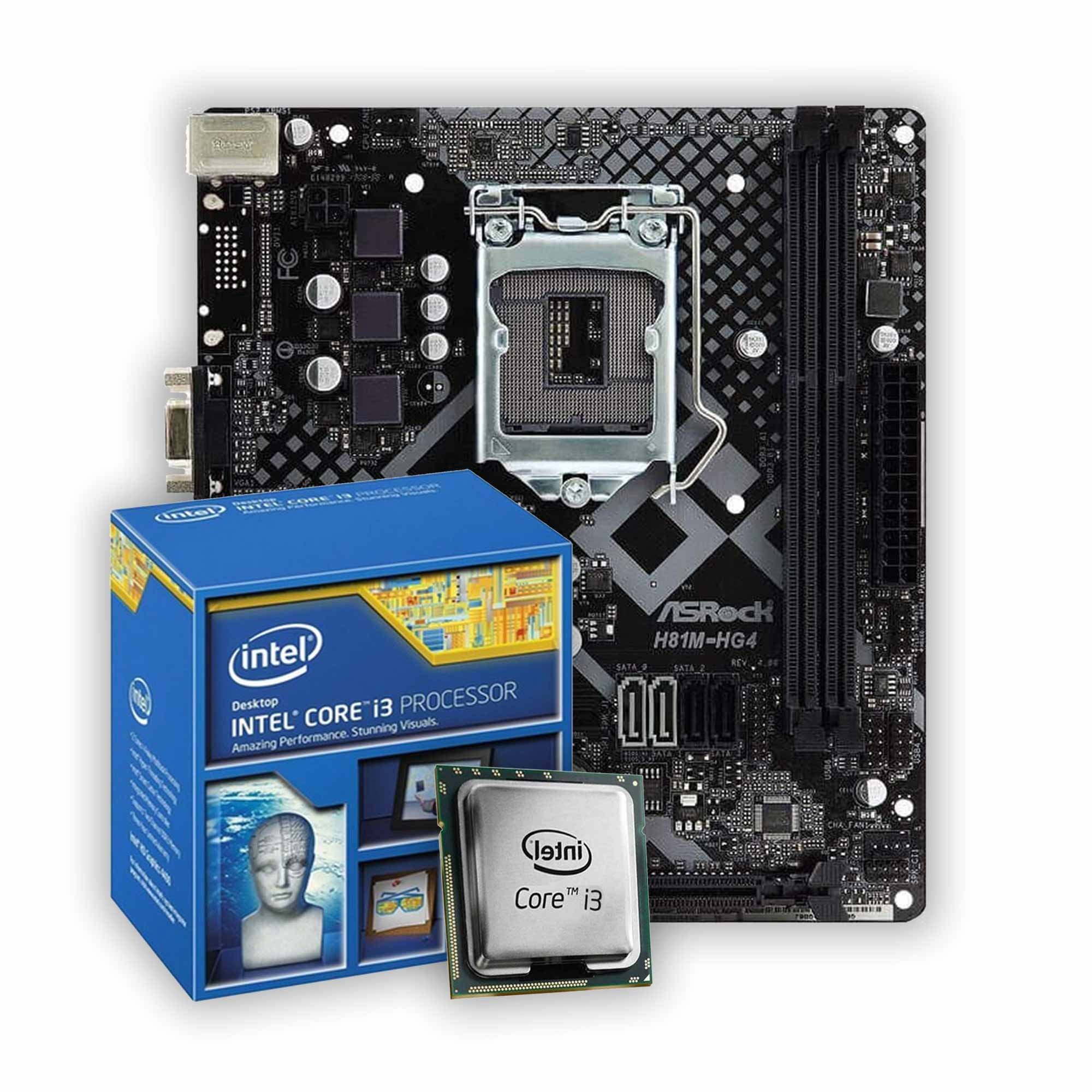 Kit Upgrade, Intel i3 4160 e Placa mãe H81M HG4