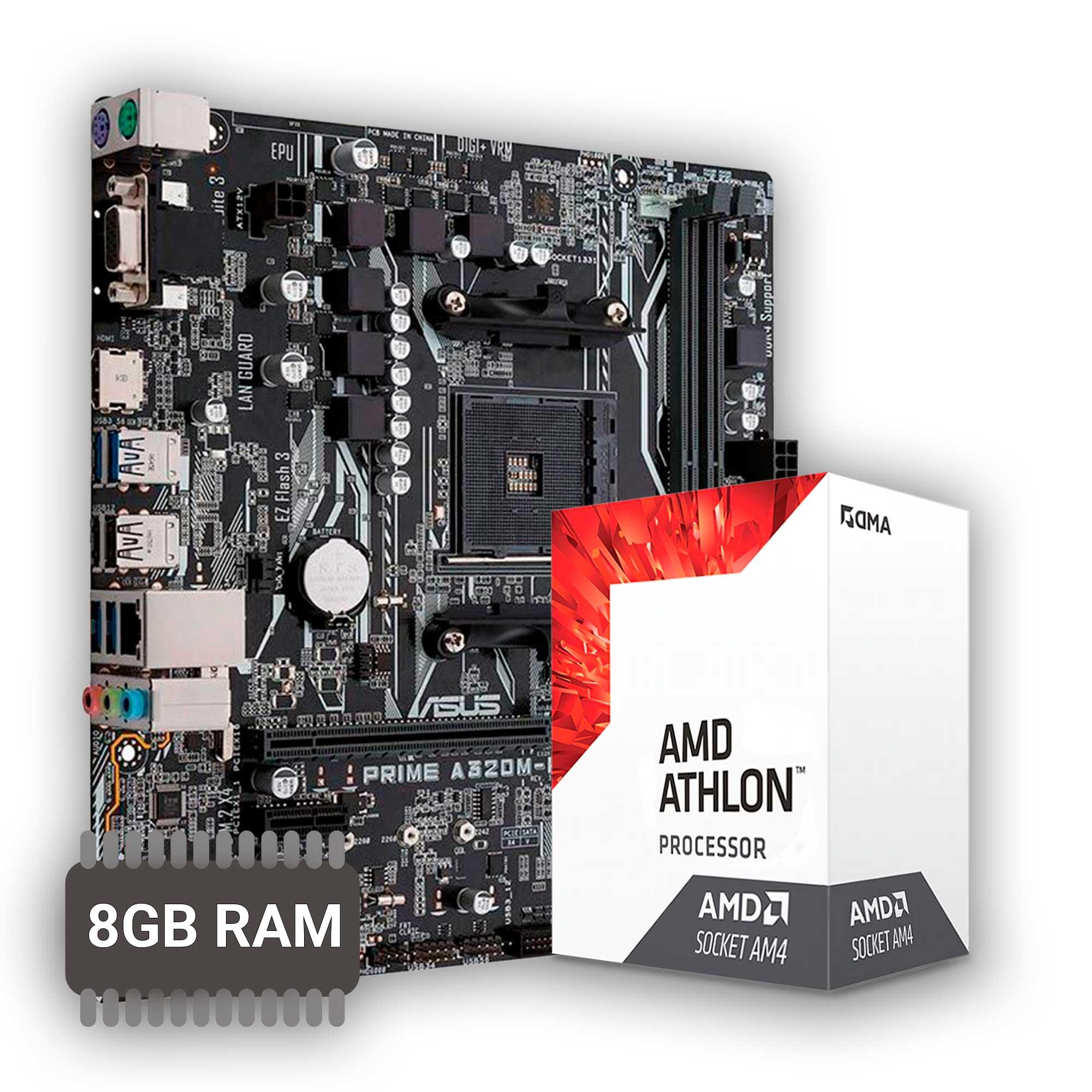 Kit Upgrade Placa mãe A320M + Processador A12 9800 + 8GB DDR4 (2x4)