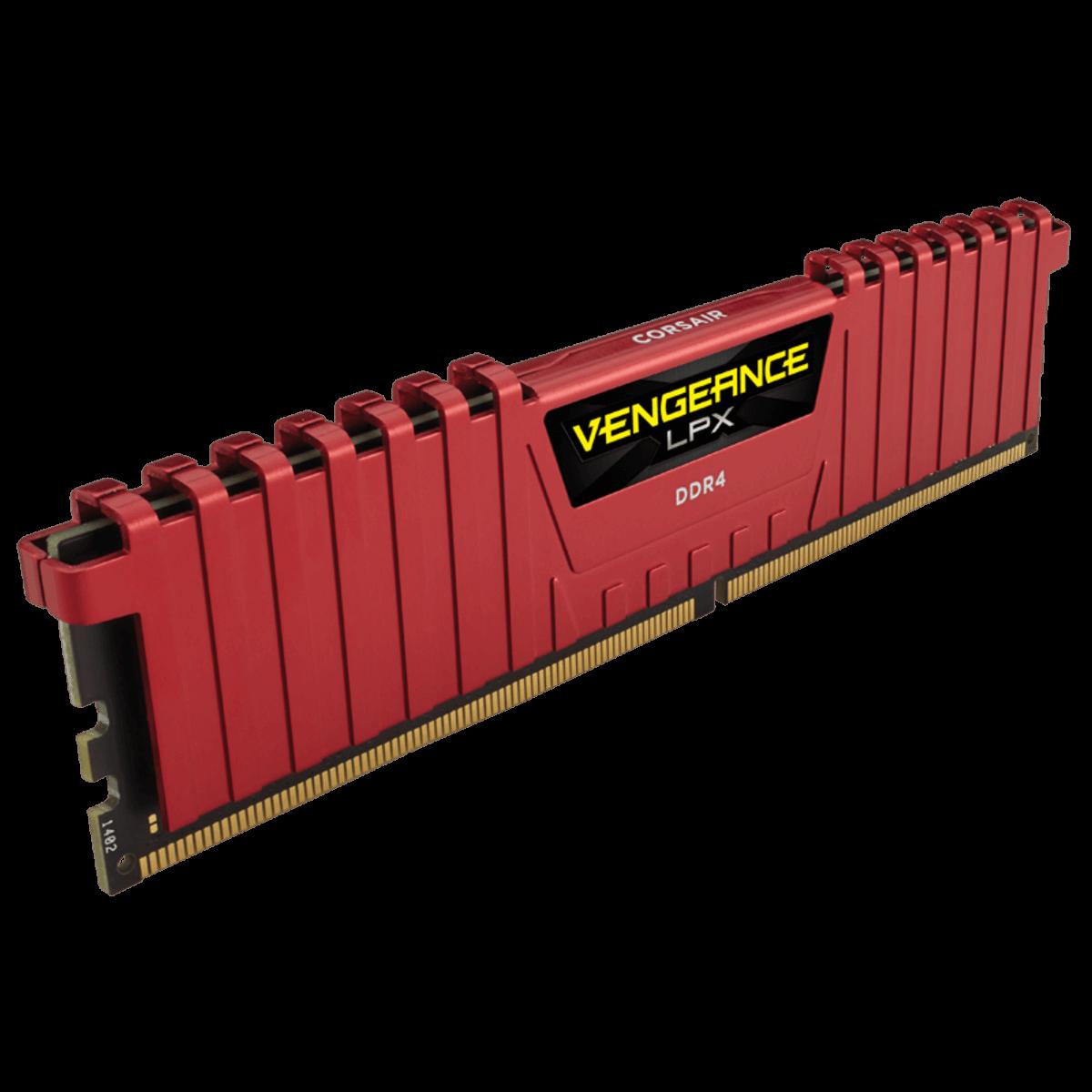 Memoria 8GB 2400Mhz Ddr4 Corsair Vengeance Lpx Vermelho CMK8GX4M1A2400C16R