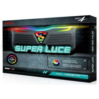 Memória 8GB DDR4 3000Mhz Geil Super Luce RGB GLS48GB3000C16ASC