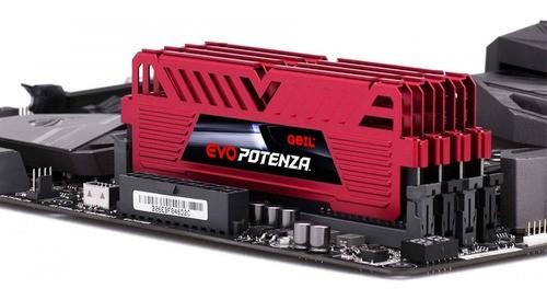Memória 8GB DDR4 Geil EVO Potenza 3000Mhz Red GAPR48GB3000C16ASC