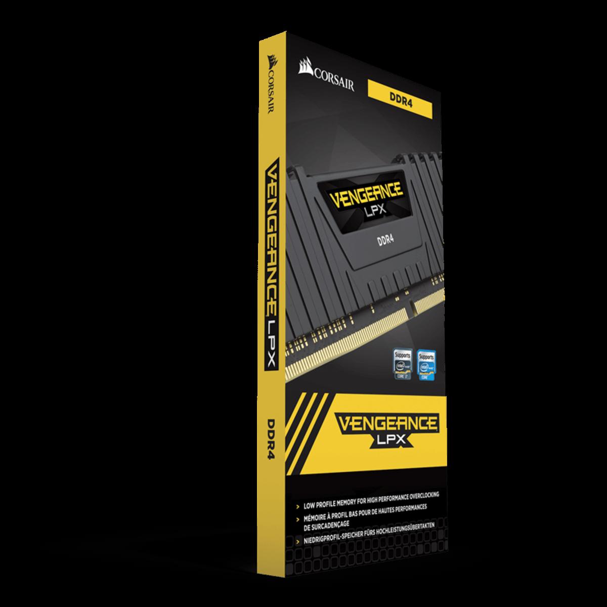 Memoria Corsair Vengeance 8GB 2400MHZ DDR4 Lpx Preta CMK8GX4M1A2400C14