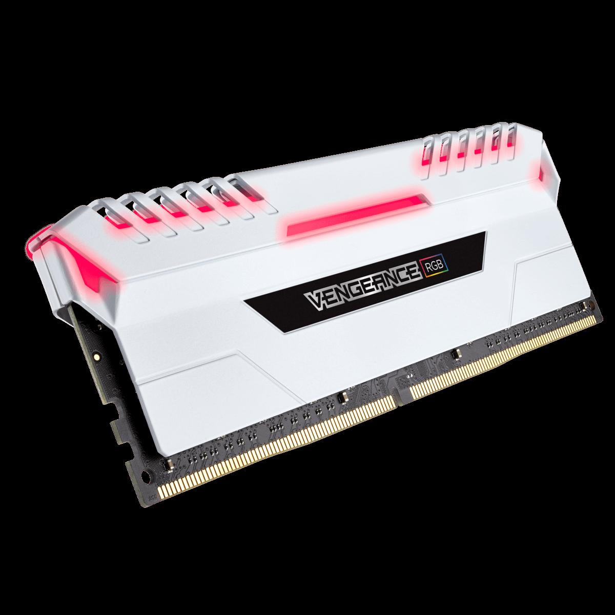 Memoria Corsair Vengeance BrancaRGB (2X8GB) 3000MHZ DDR4 CMR16GX4M2C3000C15W