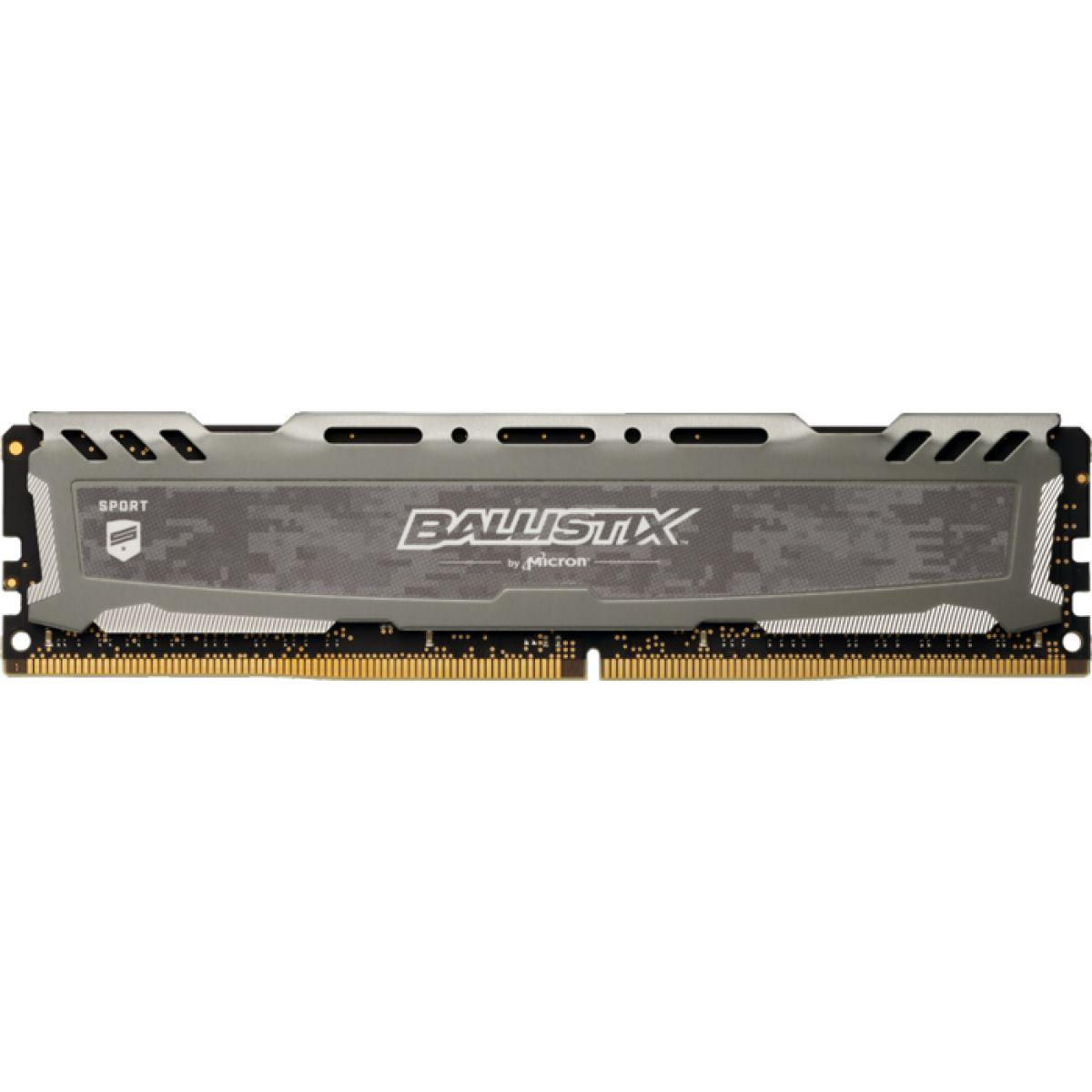 Memória DDR4 Crucial Ballistix Sport Lt 8GB 3200MHz Cinza BLS8G4D32AESBK