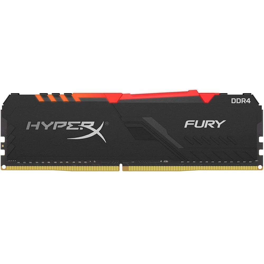Memória DDR4 Kingston HyperX Fury RGB 16GB 3200MHz Black HX432C16FB3A/16