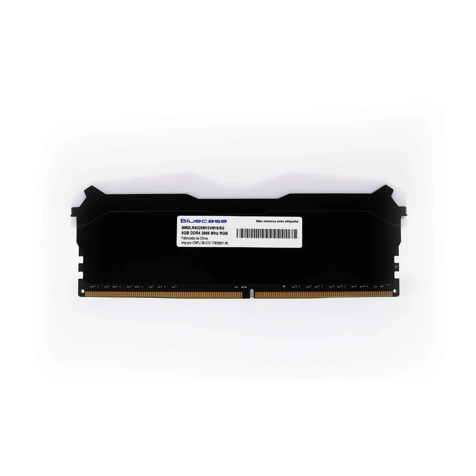Memória Gamer BlueCase 8GB DDR4 2666 Mhz RGB