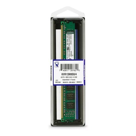 Memória Kingston 4GB DDR3 1333Mhz CL9 KVR13N9S8/4