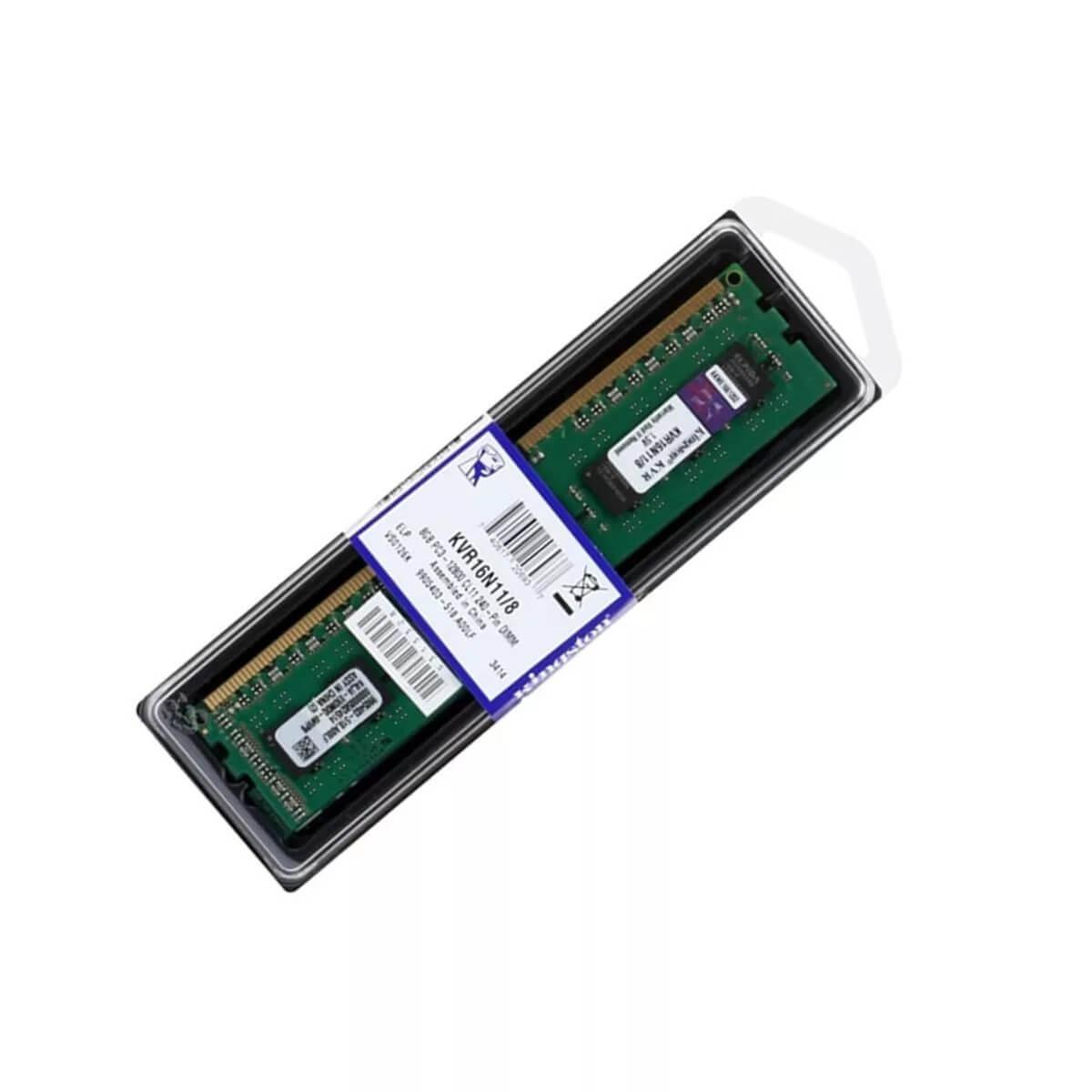 Memória Kingston 8GB 1600Mhz DDR3 CL11 - KVR16N11/8