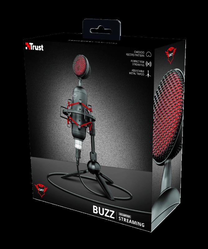 Microfone Streamer Trust Gaming GXT 244 Buzz - 23466