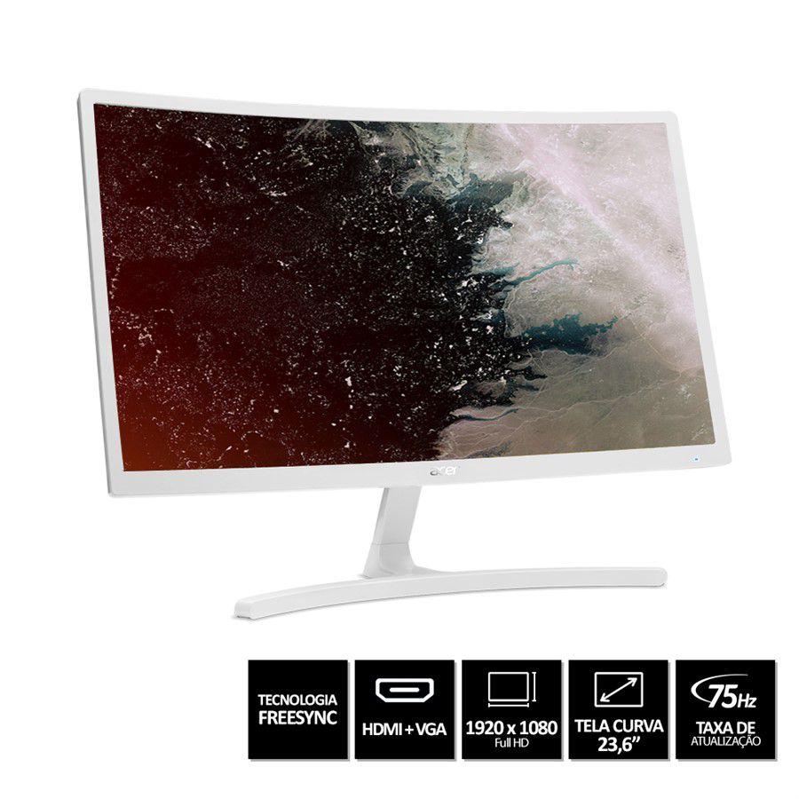Monitor ACER LED Gamer 23.6´  Curvo Freesync 75HZ ED242QR