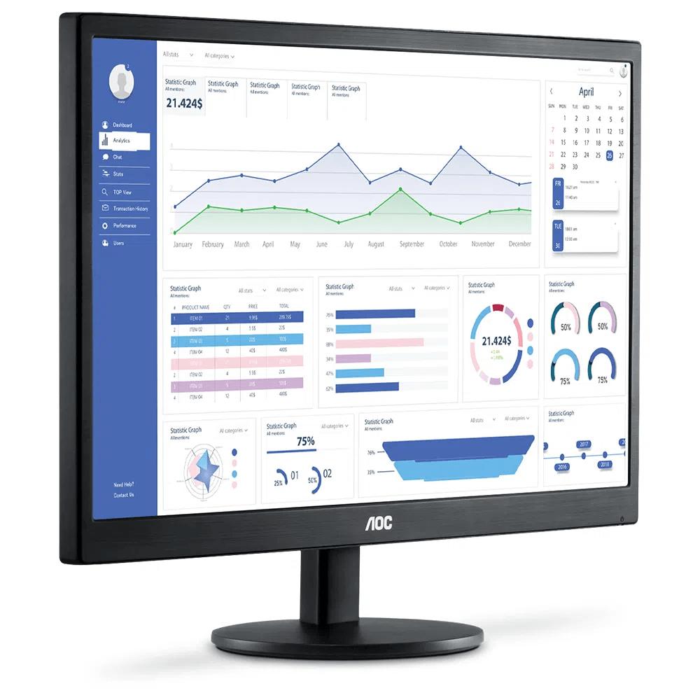 "Monitor AOC 21,5"" Led Widescreen Vga Hdmi - E2270SWHEN"