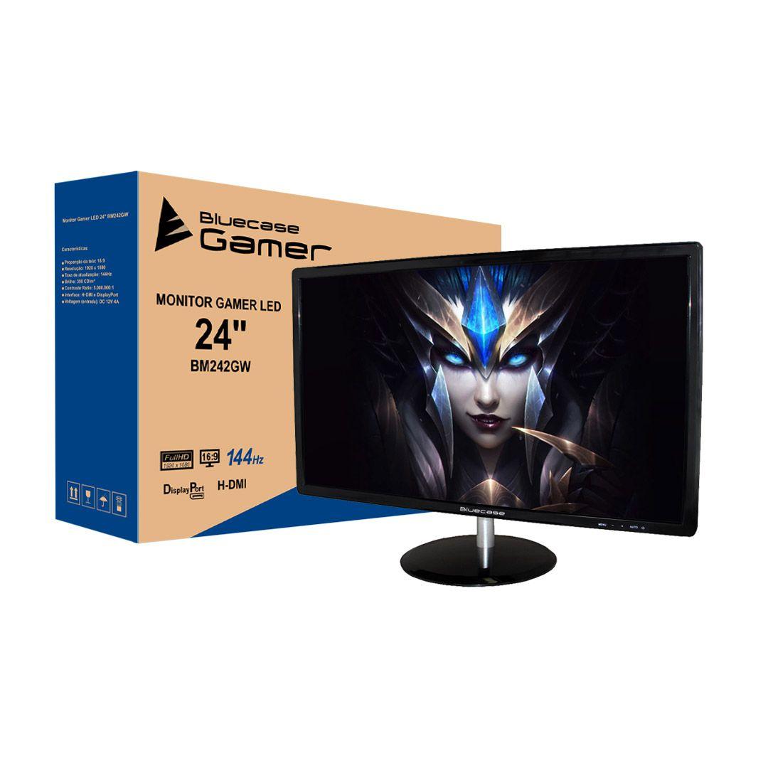 "Monitor Gamer BlueCase 24"", FullHD, 144Hz, 1Ms, BM242GW"