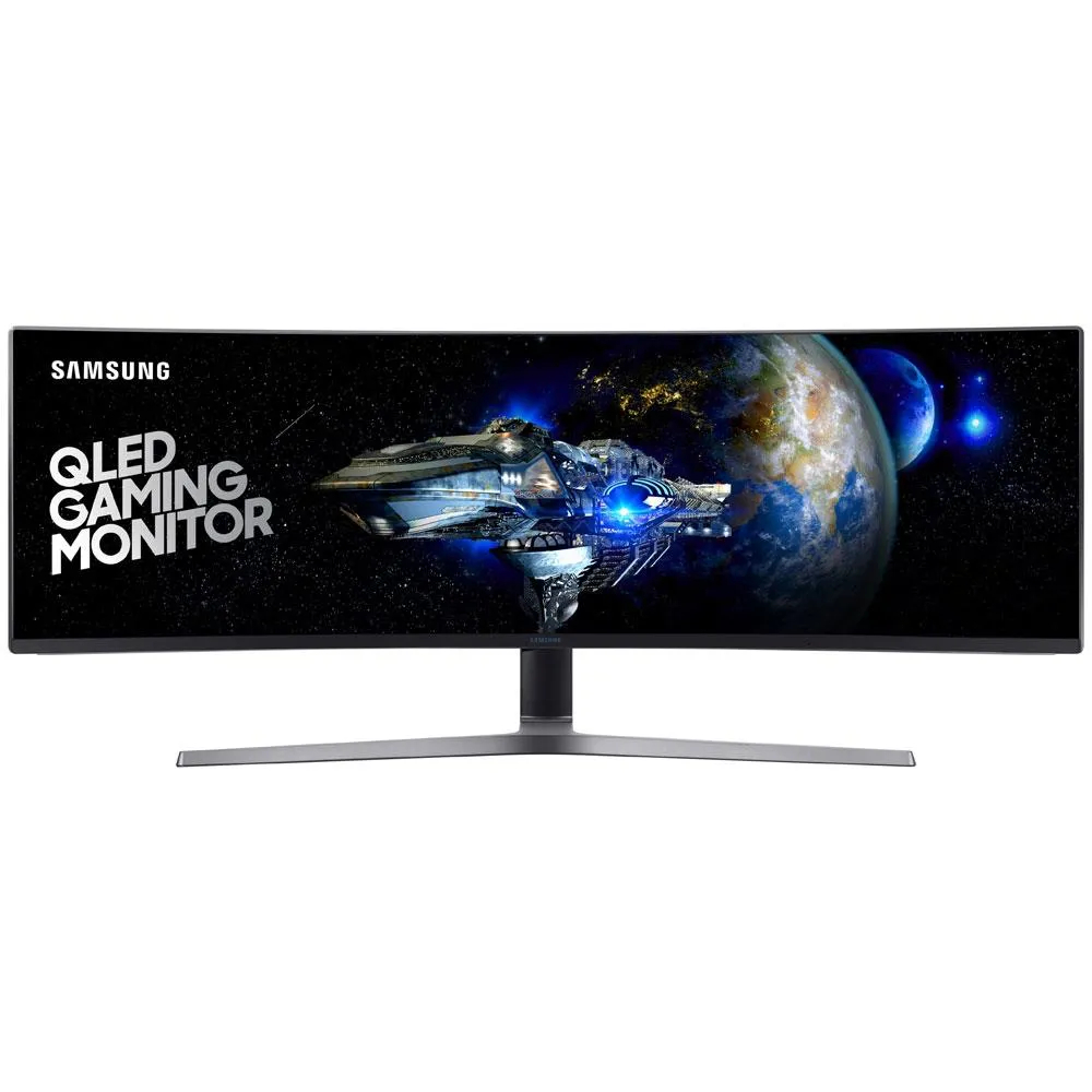"Monitor Gamer Samsung 49"" QLED Curvo 1MS 144HZ Ultrawide DP HDMI LC49HG90DMLXZD"