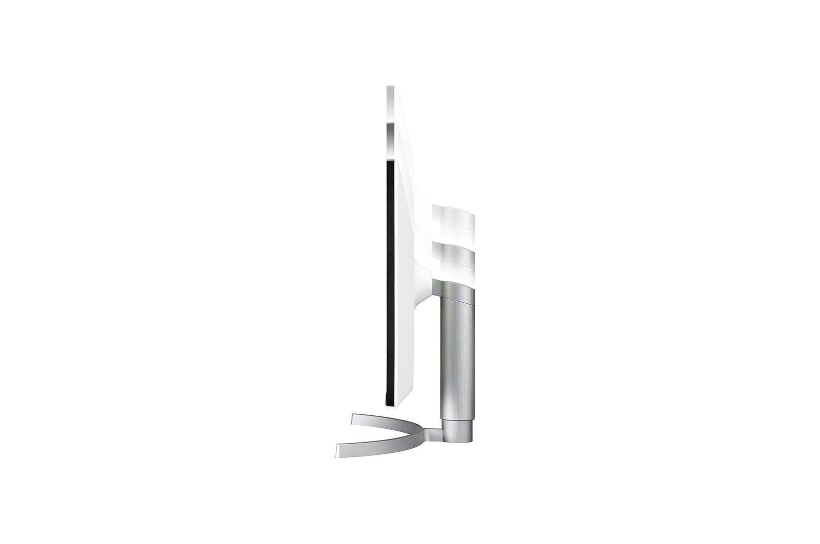 Monitor LG LED 27´ Widescreen 4K IPS Ajuste de Altura Branco - 27UL650-W