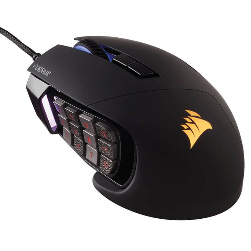 Mouse Gamer Corsair RGB 17 Botões Scimitar PRO CH-9304111