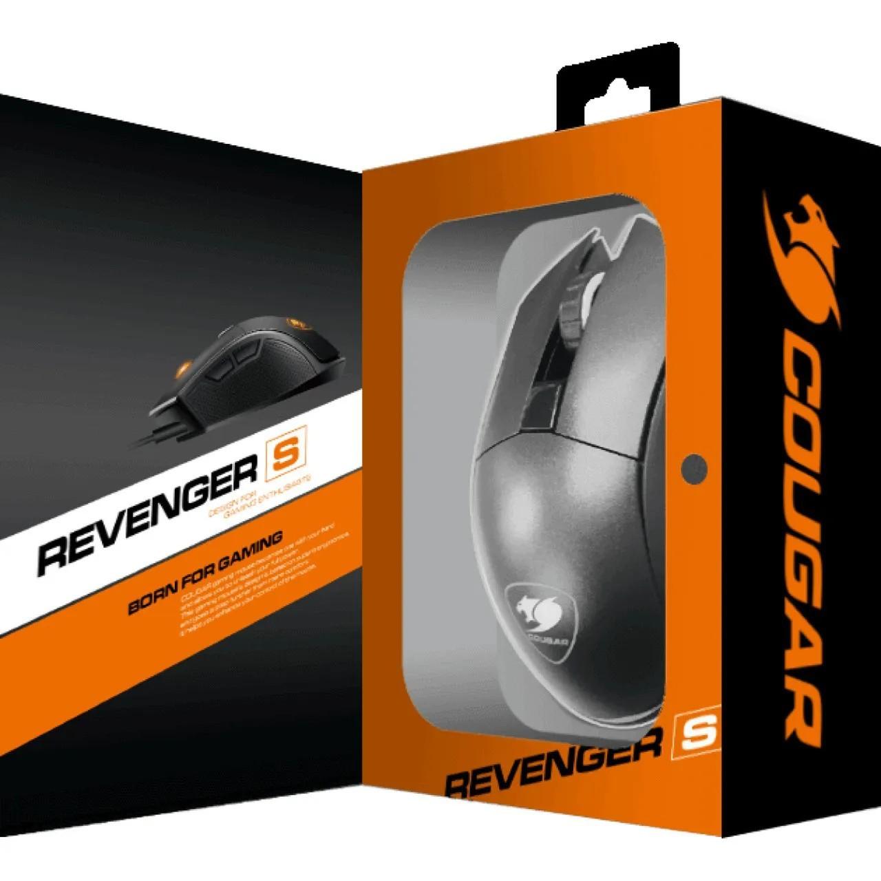 Mouse Gamer Cougar REVENGER Optico 6 Botões Programáveis 12000 DPI RGB 3MRESWOB.0001