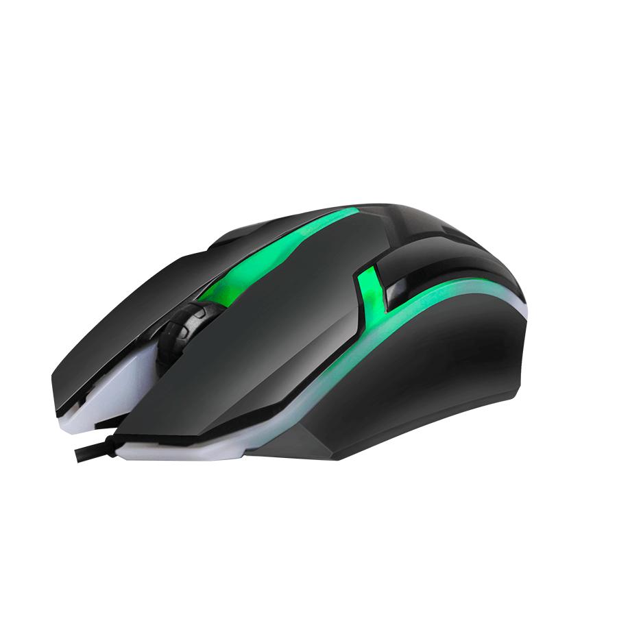 Mouse Gamer Hayom MU-2908 1000DPI 3 Botões Preto com LED RGB