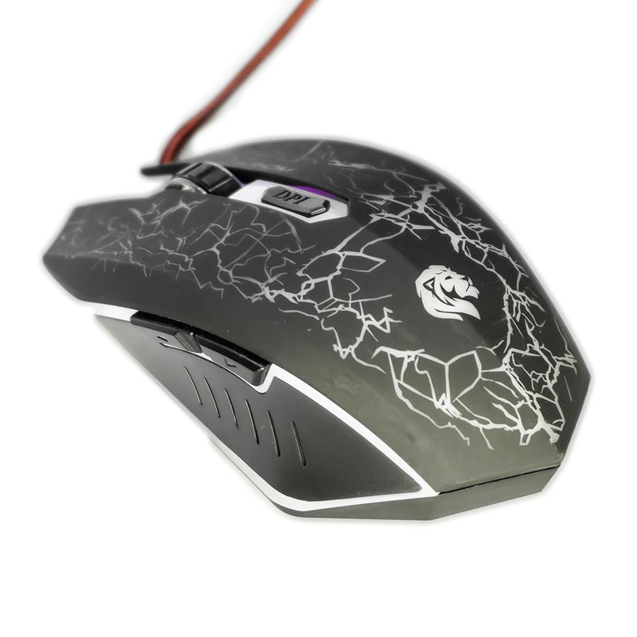 Mouse Gamer Hayom MU-2912 2400DPI 6 Botões Preto com LED