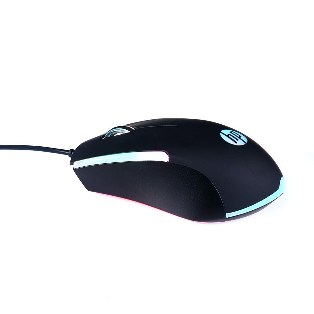 Mouse Gamer HP RGB M160 1000 DPI LED RGB Black