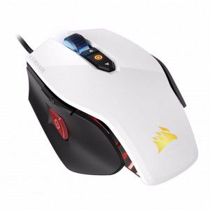 Mouse Gamer M65 Corsair Branco 12000 DPI Pro RGB - CH-9300011-NA