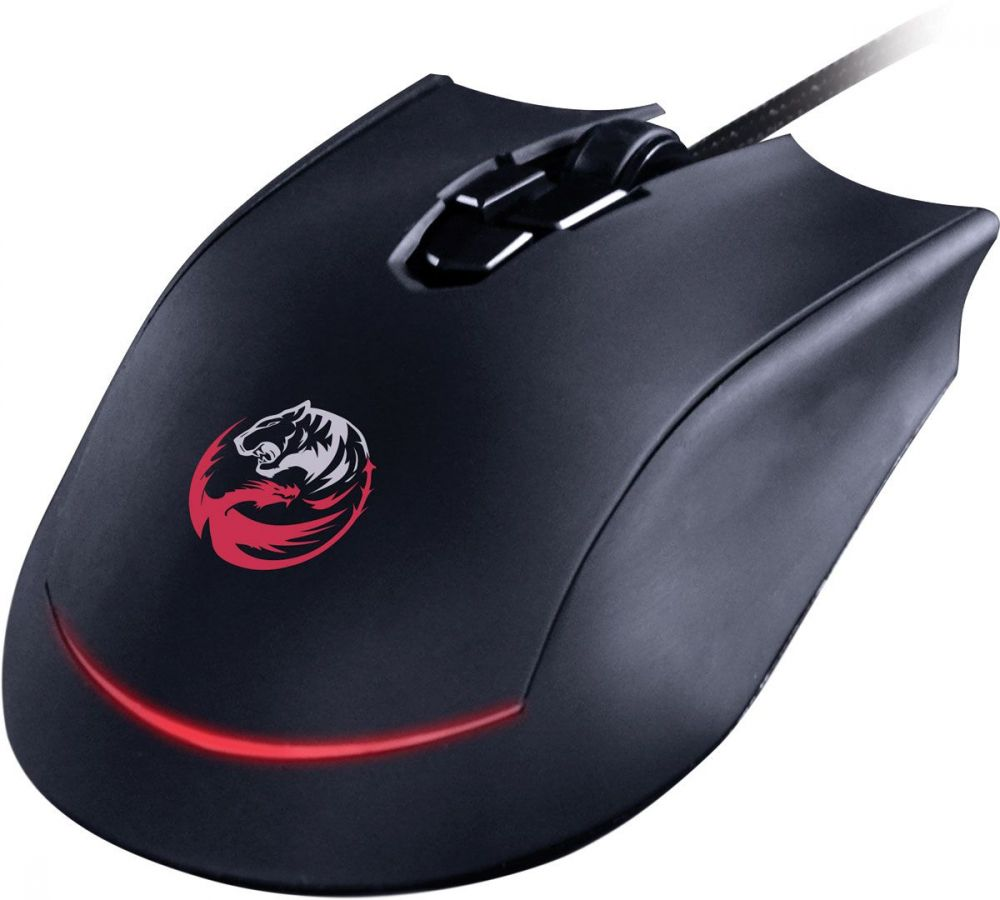 Mouse Gamer Pcyes Garou 3200dpi Óptico, 08 botões Programáveis