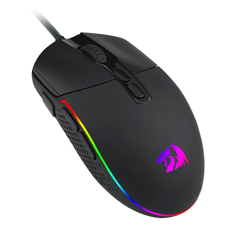 Mouse Gamer Redragon Invader M719 RGB 10000DPI 8 Botões