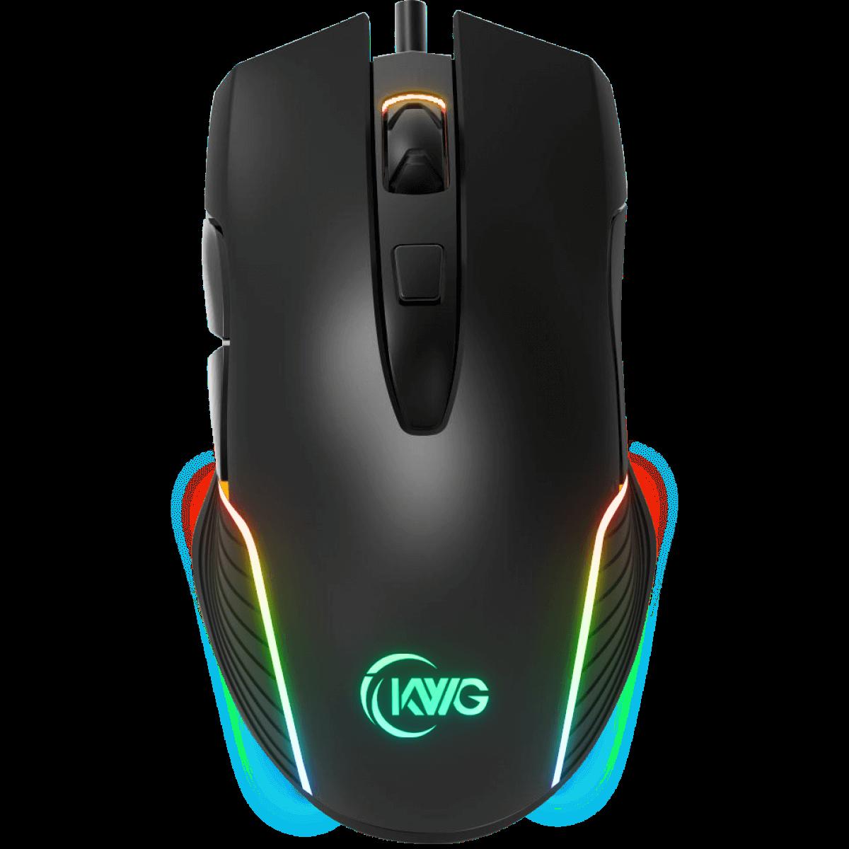 Mouse Gamer RGB KWG Orion M1 7000 DPI 6 Botões Black
