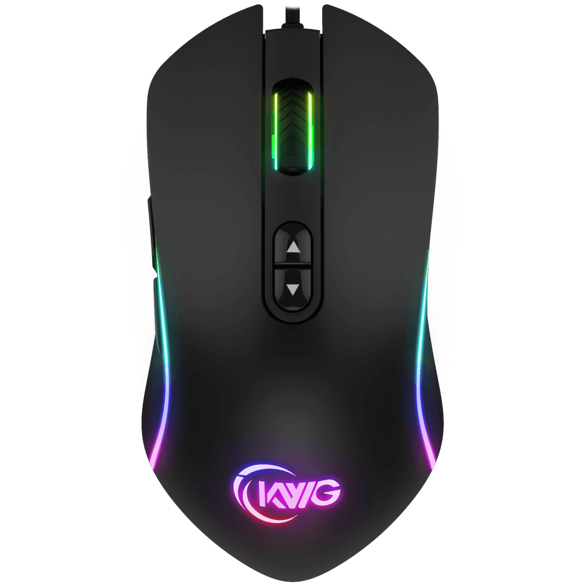 Mouse Gamer RGB KWG Orion P1 12000 DPI 7 Botões Black