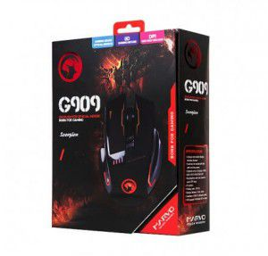 Mouse Gamer Scorpion Marvo G909H BK 1000/4800 DPI