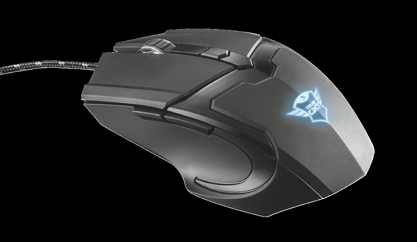 Mouse Gamer Trust GXT 101 Gav 4800Dpi 6 Botões Preto - 21044