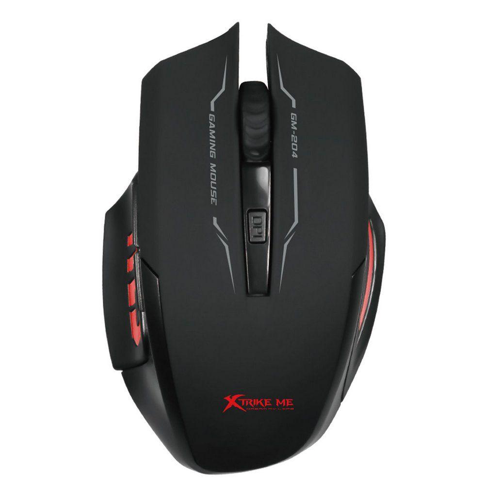 Mouse Gamer Xtrike GM-204 800/3200DPI - MTLMOUIGM204BK