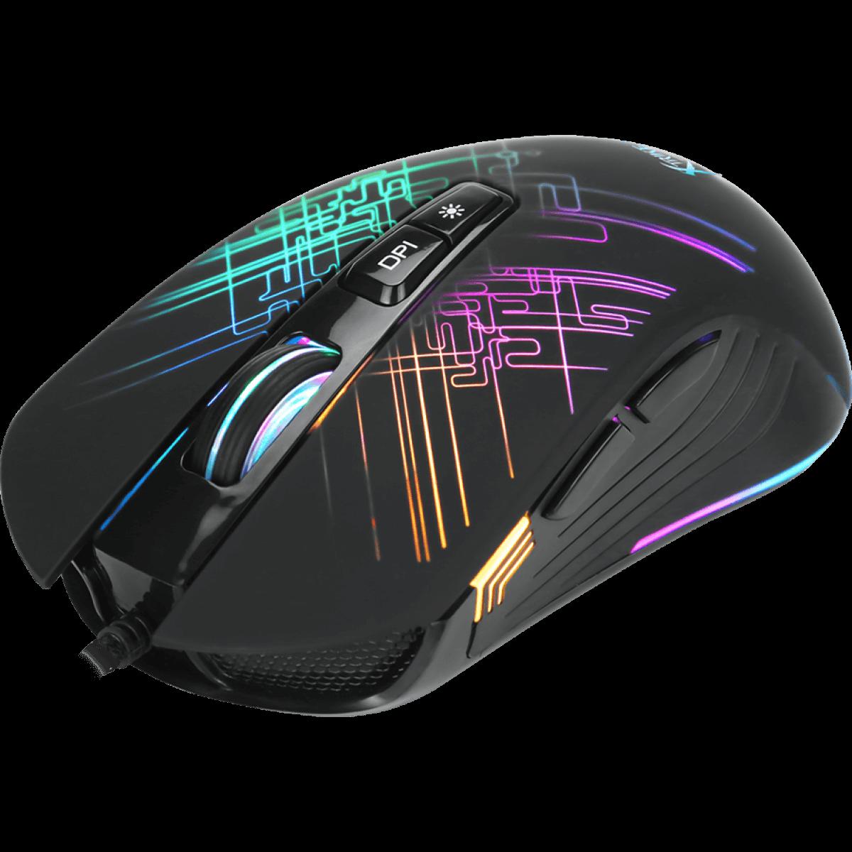 Mouse Gamer Xtrike-ME GM-510 RGB 7 Botões 6400 DPI