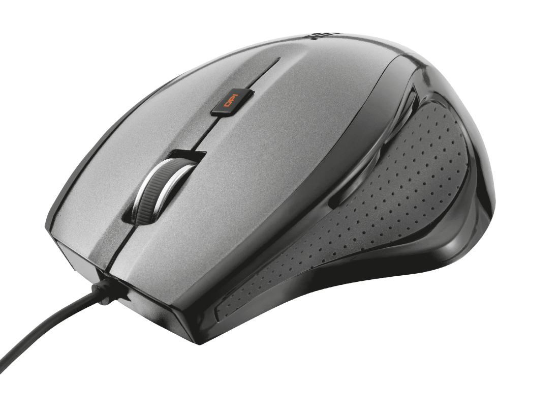 Mouse Trust MaxTarck Comfort Ergonômico 1600 Dpi Preto - 17178