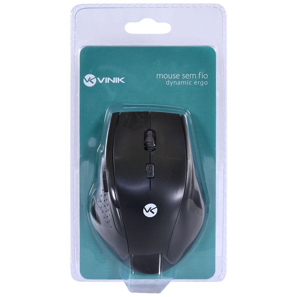 Mouse Vinik Sem Fio 2,4Ghz 1200 DPI Dynamic Ergo DM110