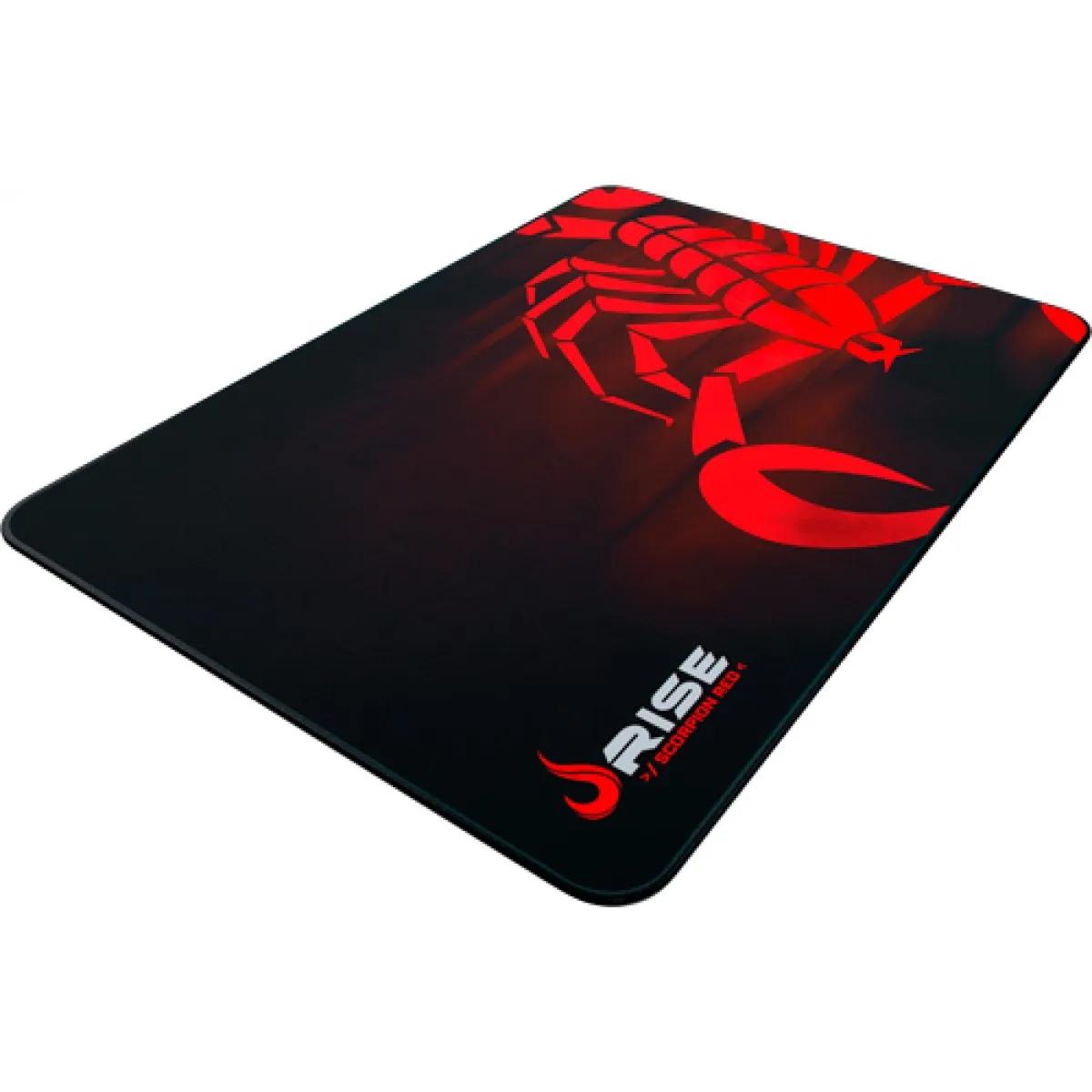 MousePad Gamer Rise Grande 42x29 cm Scorpion Vermelho RG-MP-05-SR