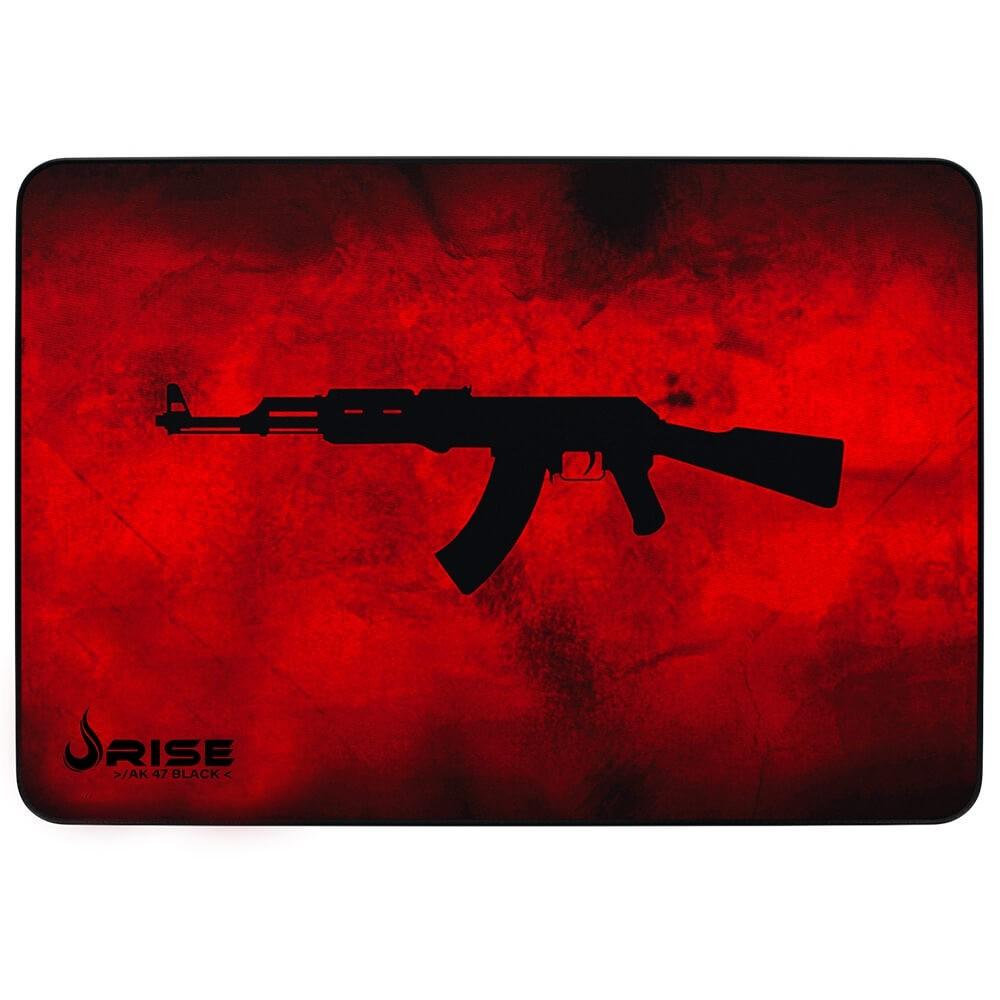 MousePad Gamer Rise Médio 21x29 cm AK47 Vermelho RG-MP-04-AKR