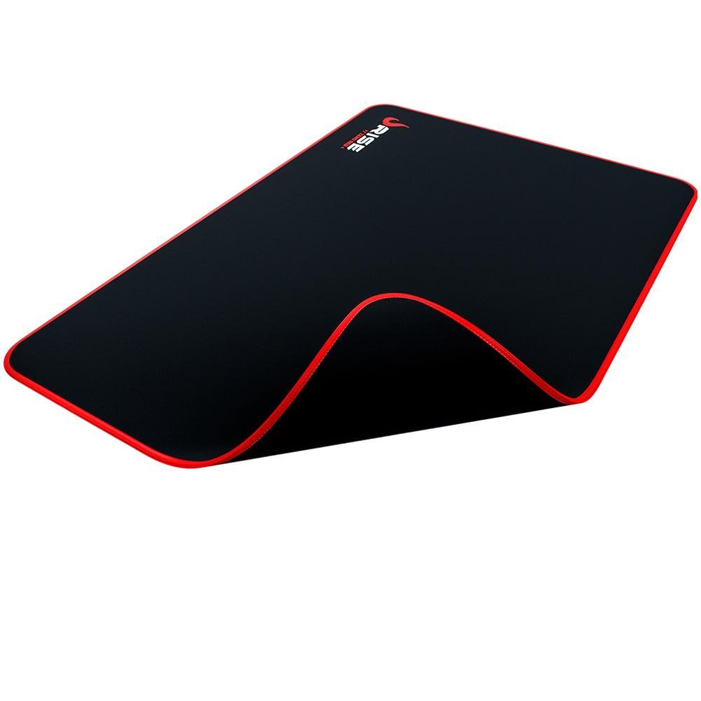 MousePad Gamer Rise Médio 21x29 cm Zero Vermelho RG-MP-04-ZR