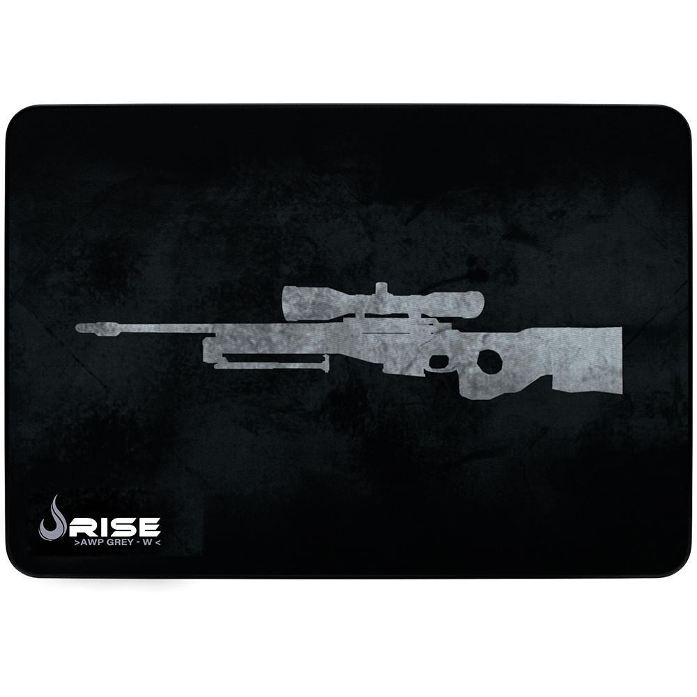 MousePad Gamer Rise Médio 21x29cm Mode Snipper Grey RG-MP-04-SPG