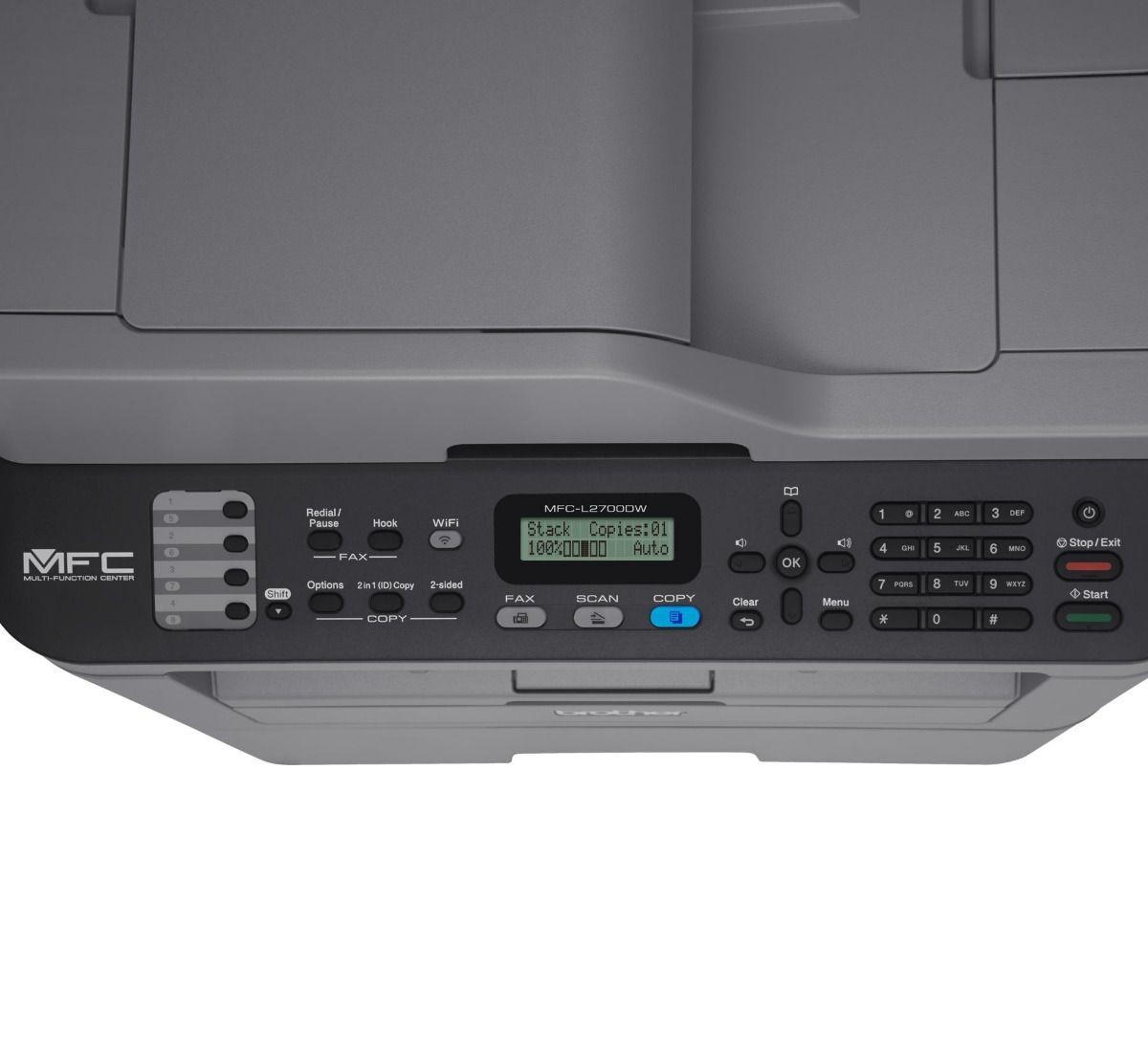 Multifuncional Monocromatica Laser MFCL2700DW Wifi Duplex