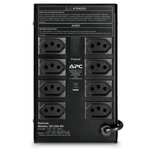 Nobreak APC Back-UPS 1200 Va 115V/220V 8 Tomadas  BZ1200-BR