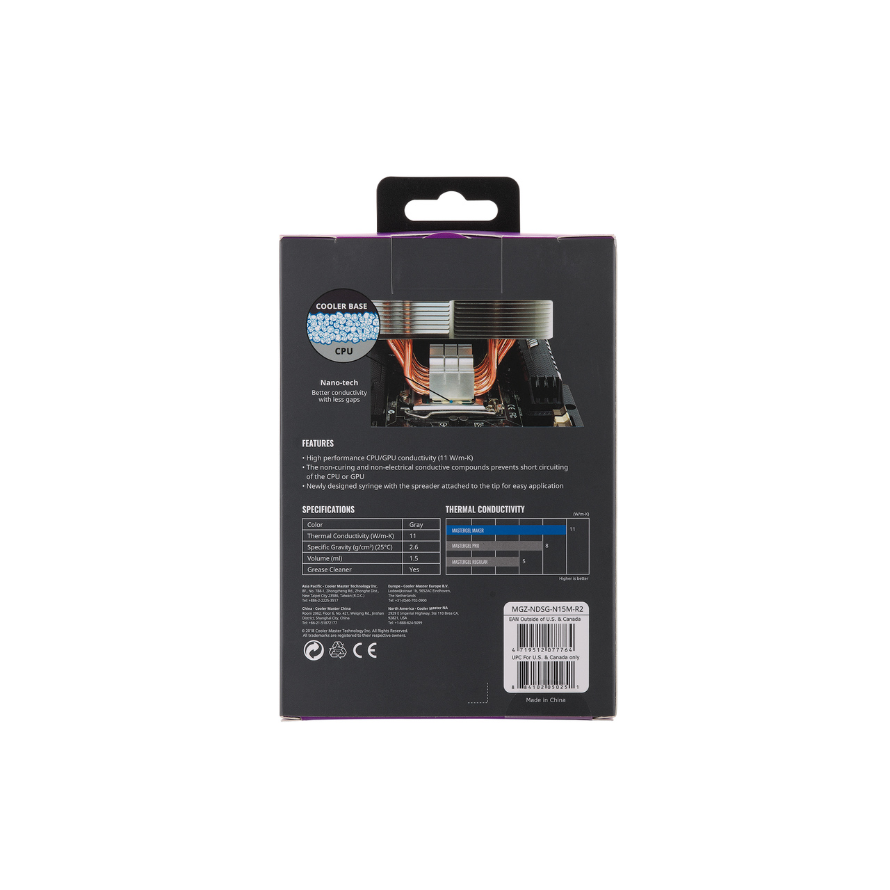 Pasta Térmica Cooler Master Gel Maker Nano, MGZ-NDSG-N15M-R2