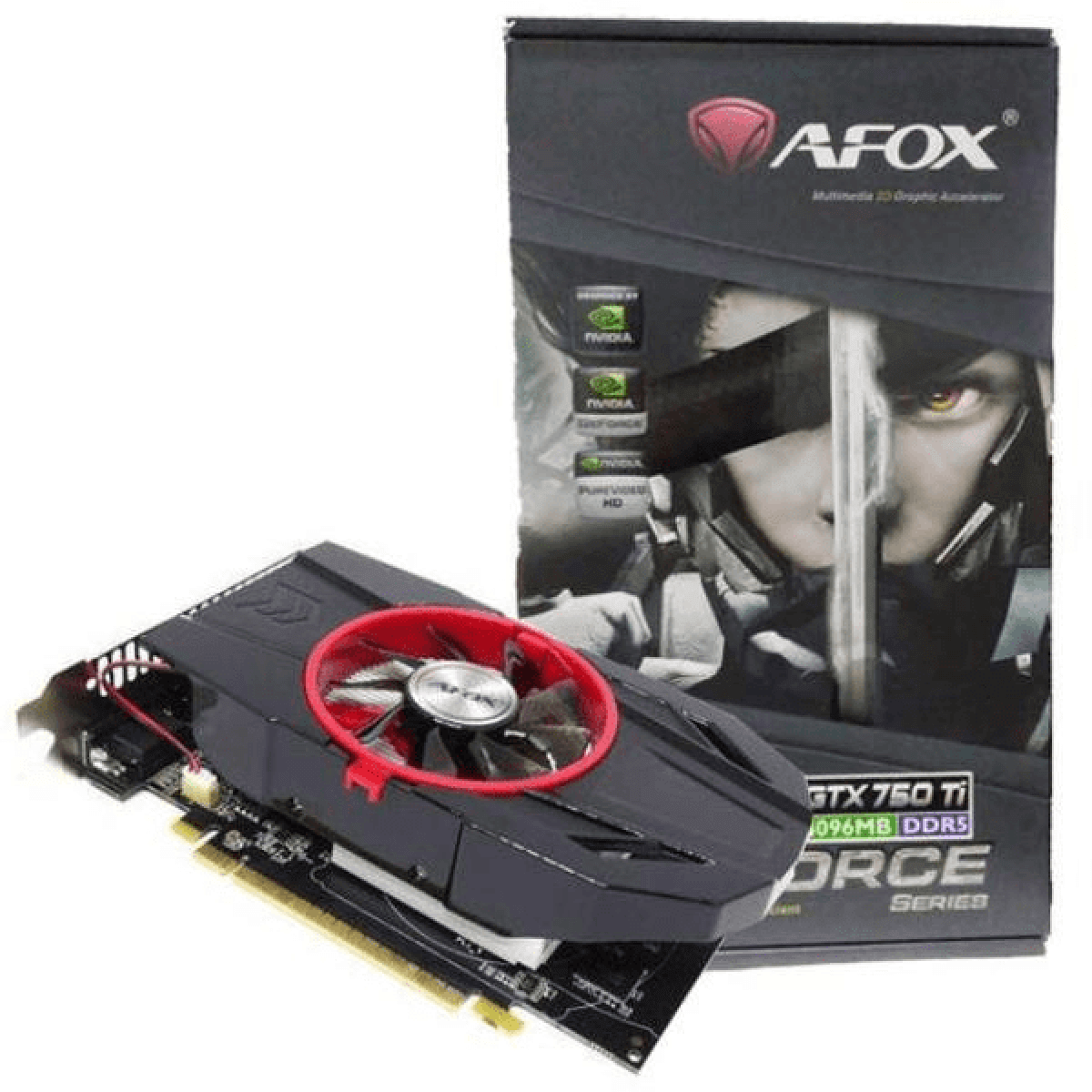 Placa de Vídeo Afox GTX 750TI 4GB GDDR5 128bit AF750TI-4096D5H4