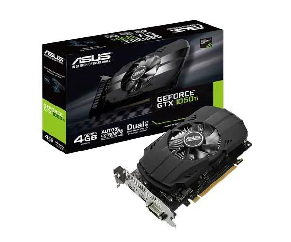 Placa de Vídeo Asus GeForce GTX 1050Ti 4GB GDDR5 128Bit PH-GTX1050TI-4G