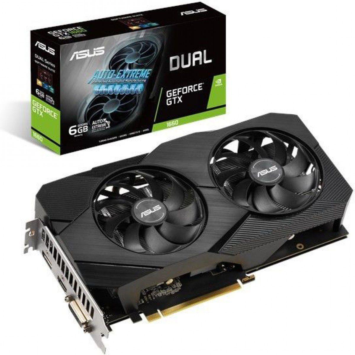 Placa de Video Asus GeForce GTX 1660 EVO 6GB GDDR5 192 Bit DUAL-GTX1660-O6G-EVO
