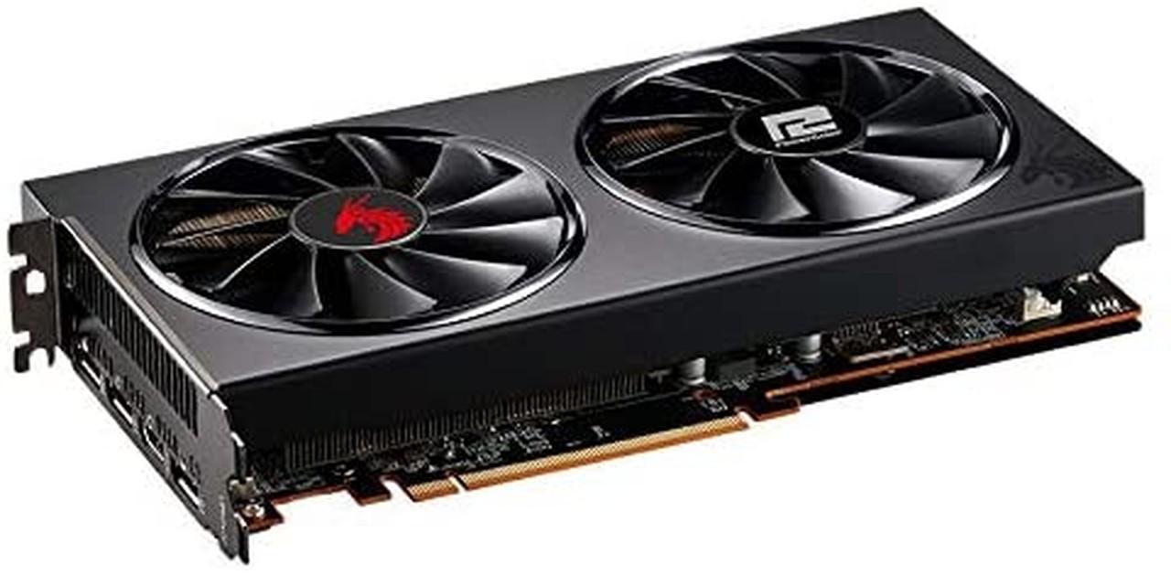 Placa de Vídeo Powercolor Radeon Navi RX 5600 XT Dual OC 6GB GDDR6 AXRX 5600XT 6GBD6-3DHV2/OC