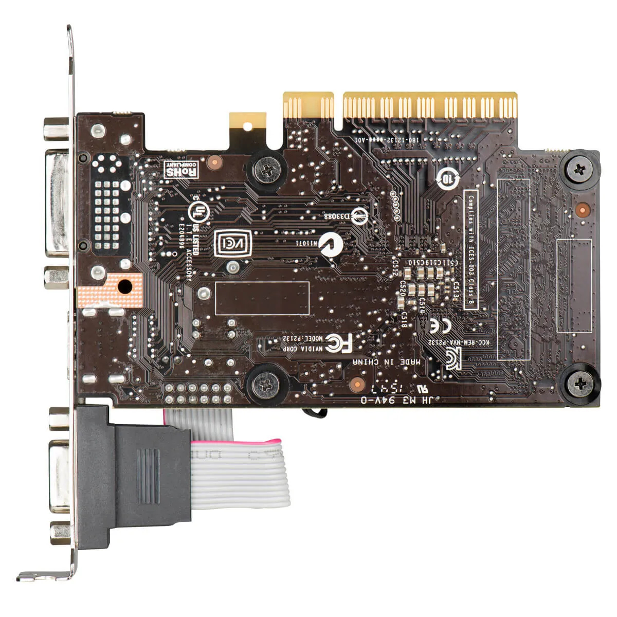 Placa de Vídeo EVGA GeForce GT 710 2GB DDR3 Low Profile 02G-P3-2713-KR
