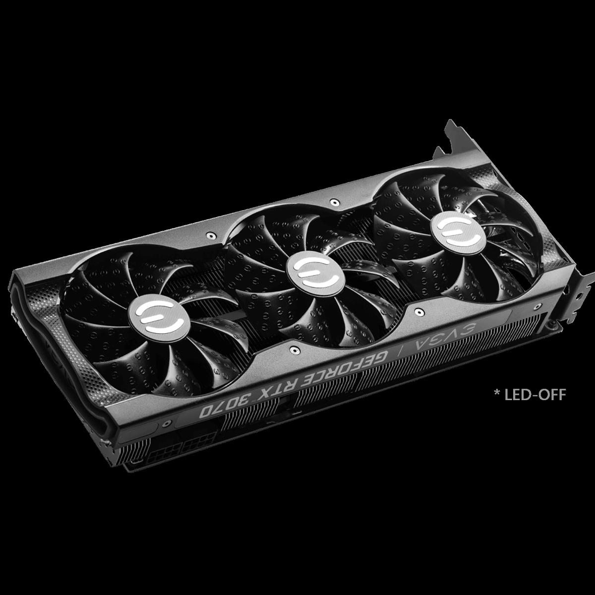 Placa de Vídeo EVGA GeForce RTX 3070 XC3 Black Gaming 8GB GDDR6 256bit 08G-P5-3751-KR