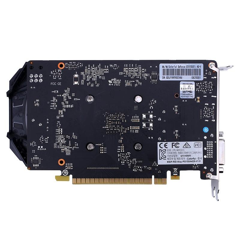 Placa de Vídeo GeForce Nvidia GTX 1050Ti 4G-V  4GB GDDR5 128Bit